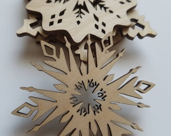 Set of 6 Snowflake Ornament Cut Outs ( Holiday Decoration, Christmas Decoration, Home Decor, Garlands )