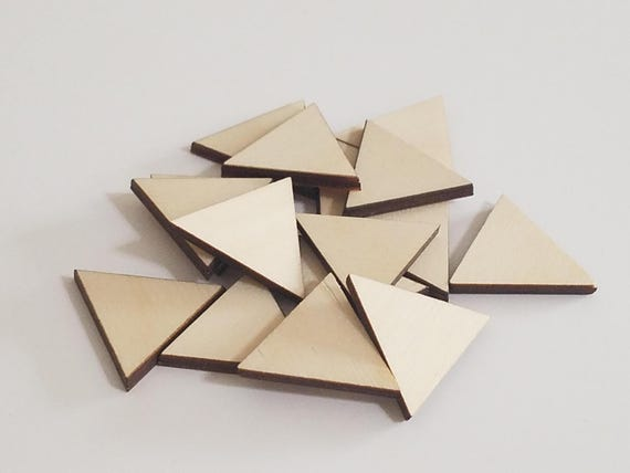 Wooden Craft Diy Triangle Cut Outs Embellishments Craft Projects Scrap Booking Etc