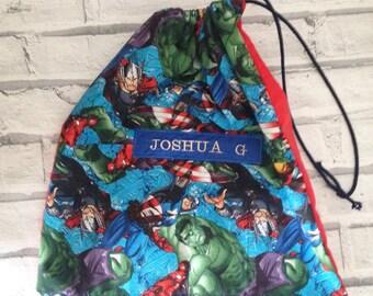 Personalised Kids DC Girls Superheros Gym Bag School//Swimming