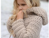 CROCHET PATTERN-The Veilynn Sweater (2, 3/4, 5/7, 8/10, 11/13, 14/16, S/M, L/XL sizes) photo