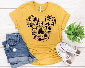 49cd2445b disney characters, mickey head, disneyland, disneyworld, epcot, Disney Trip  tee for women, Agrabah, Disney Princess shirt, disney bounding
