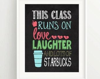 Back To School / Chalkboard / Teacher Appreciation / Class Rules / Inspiration / Teach / Educational / Digital Download