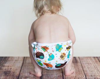 GEN-Y Simplicity Diaper Cover in Hoot Sweet Print