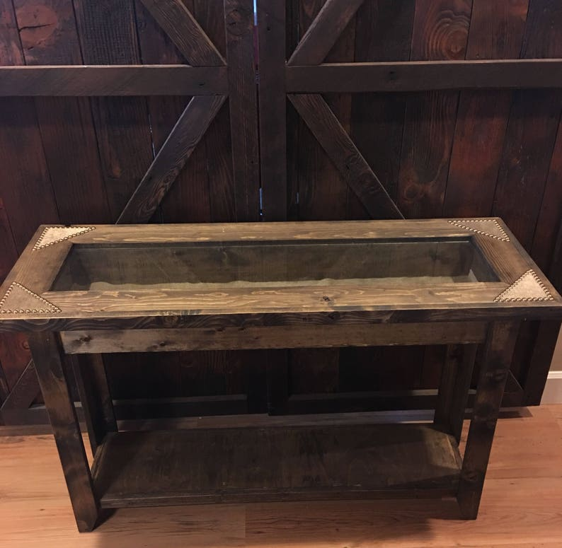 Superb Western Display Sofa Table Cowhide Display Sofa Table Buckle Display Table Trophy Table Entryway Table With Cowhide Made To Order Download Free Architecture Designs Lukepmadebymaigaardcom