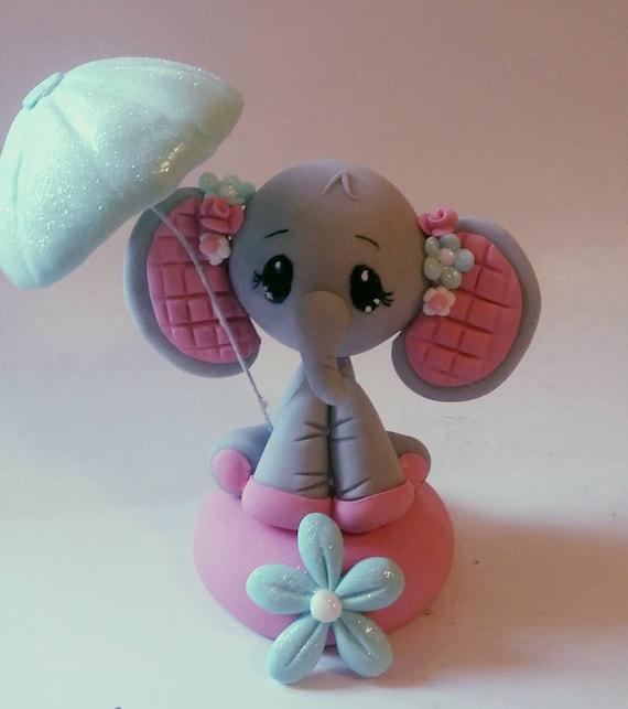 Elephant Baby Shower Cake Topper Baby Shower Elephant Etsy