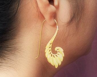 Bohemian Earrings/Lotus Earrings/Tribal Jewelry/Tribal Brass Earrings/Gypsy Earrings/Dangle Earrings/Ethnic Earrings/Boho Earrings