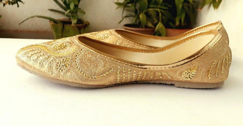 4ba5372d8398 Gold Flats Wedding Flats Women Ballet Flats Women Shoes Gold