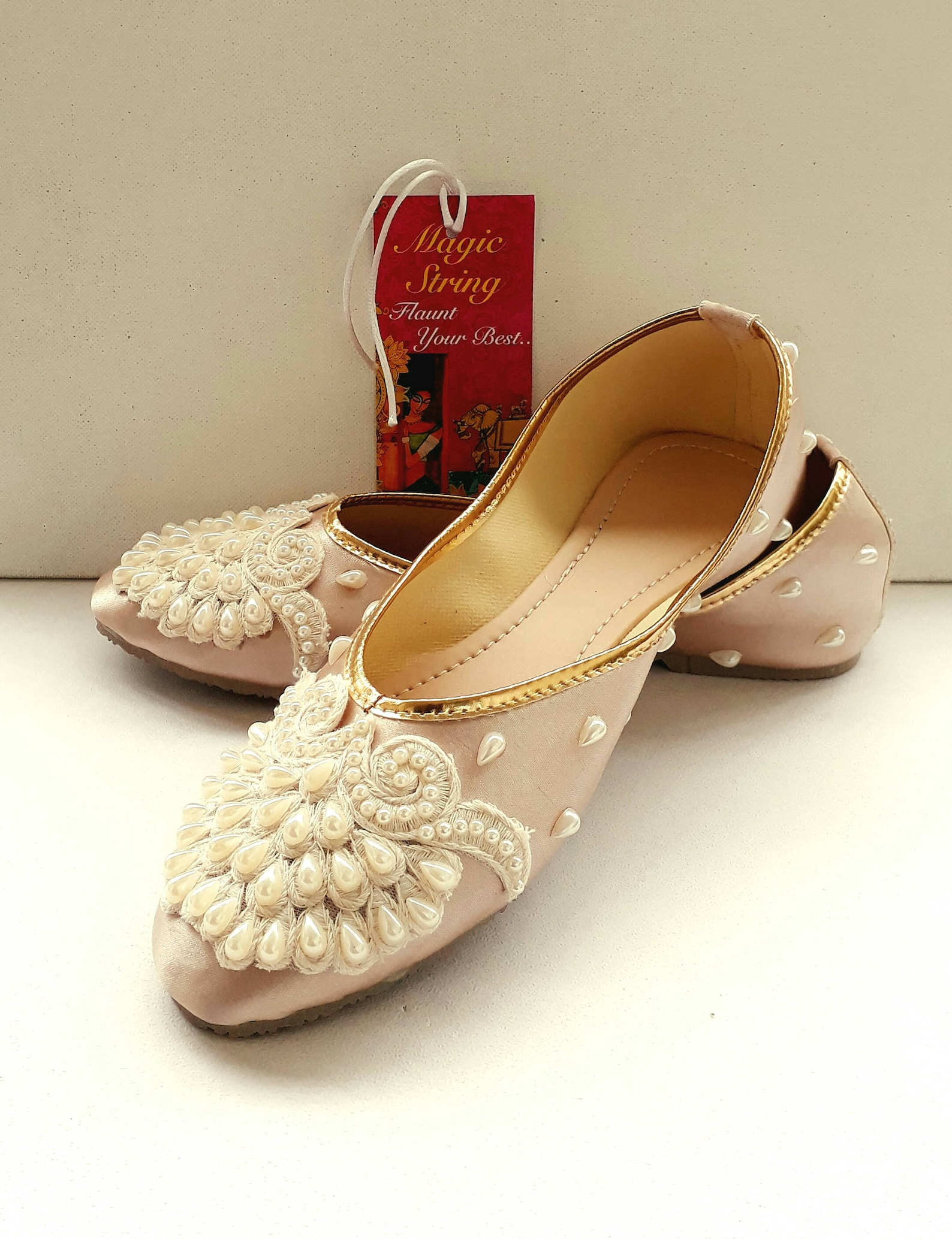 champagne flats/gold flats/wedding flats/women ballet flats/embroidered shoes/women shoes/wedding lace shoe/pearl flats