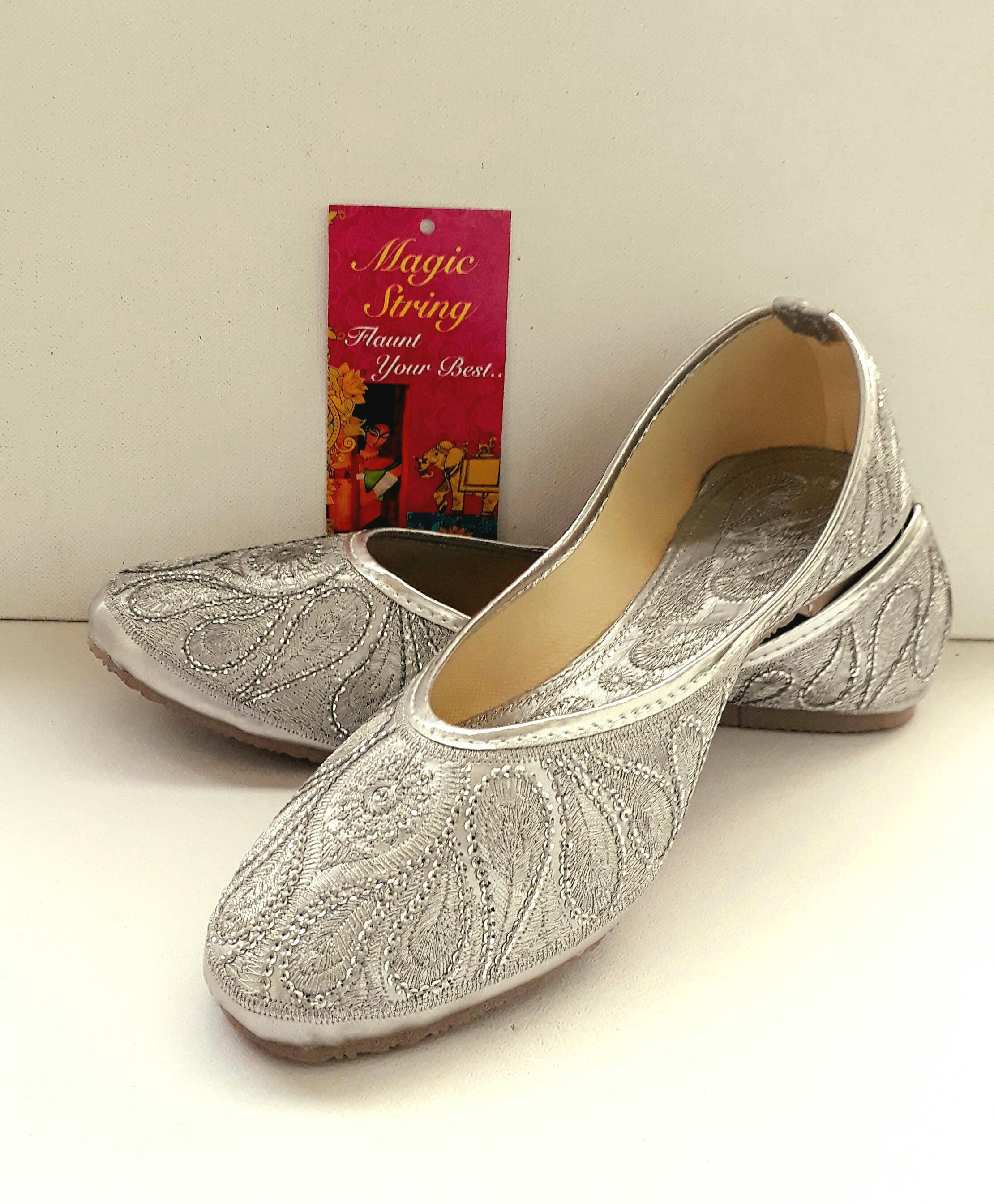 Silver Flats For Wedding.Silver Flats Wedding Flats Women Ballet Flats Women Shoes Silver Wedding Shoes Embroidered Bridal Shoes Wedding Shoes Royal Styled Jooties