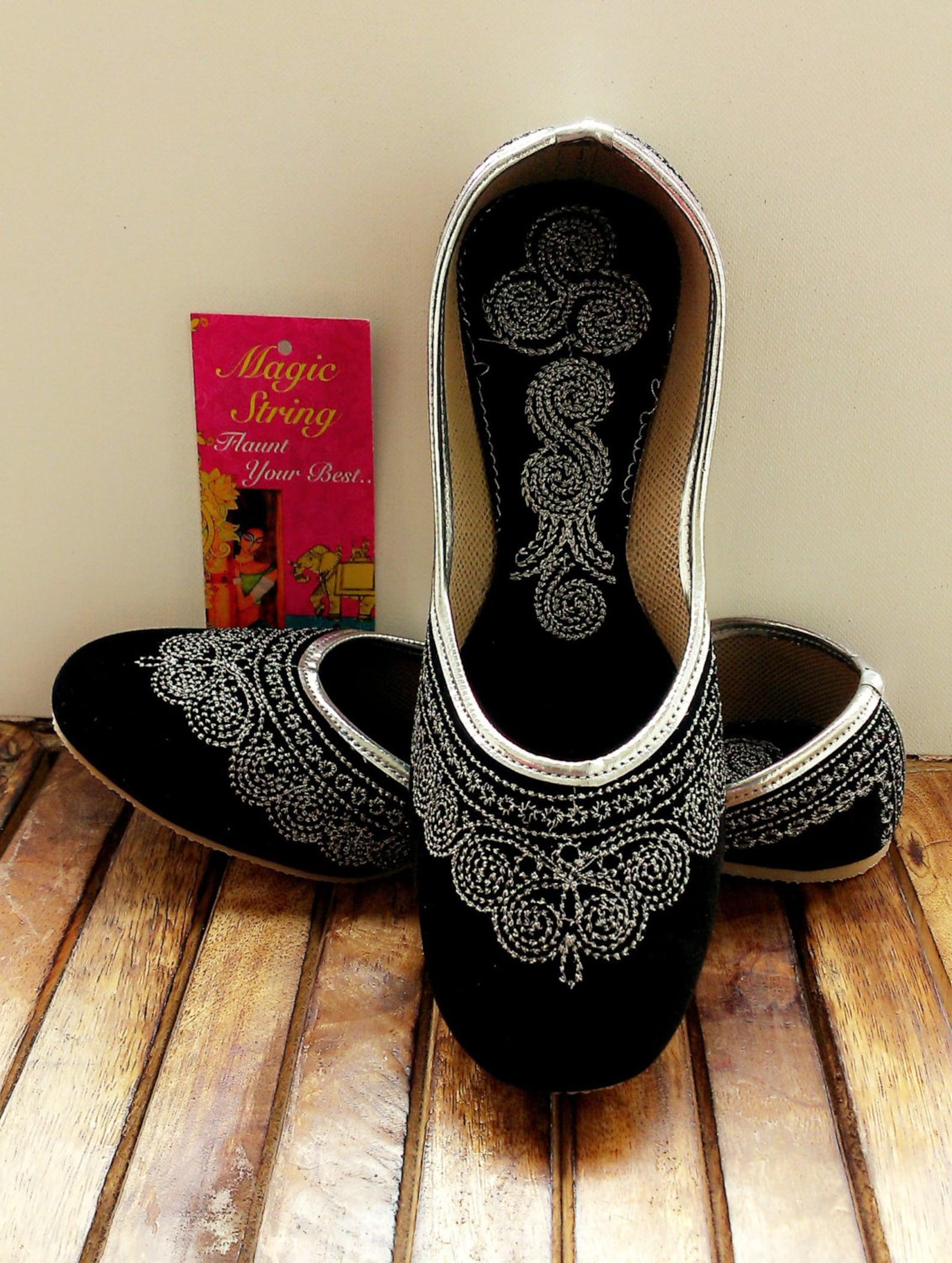 us size 7 black wedding shoes/velvet shoes/silver shoes/black ballet flats/women shoes/ handmade shoes