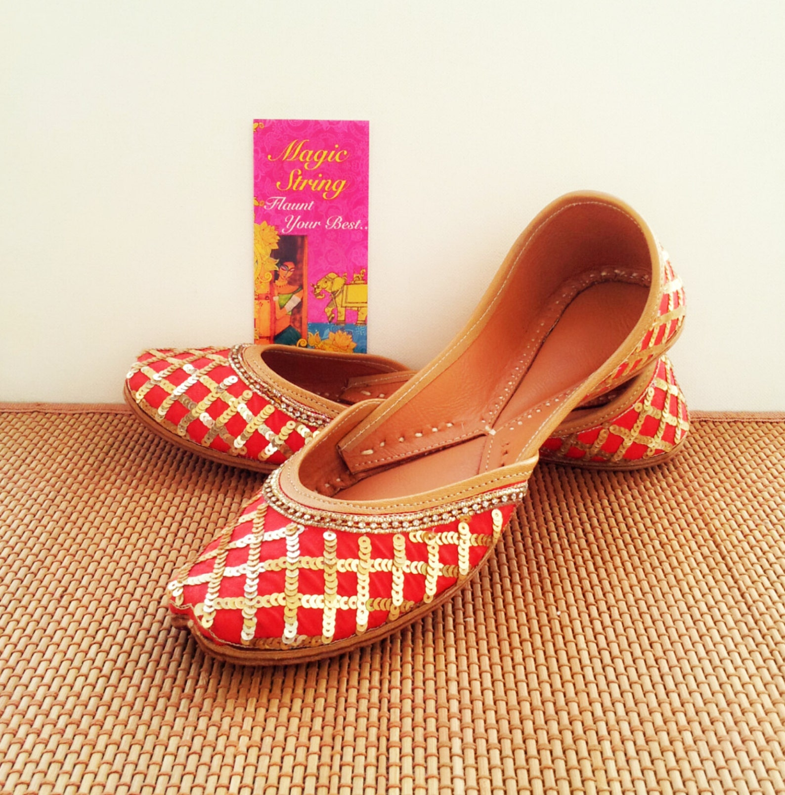 red flats/gold flats/wedding flats/red embroidered bridal flats/women ballet flats/bridal shoes/wedding shoes