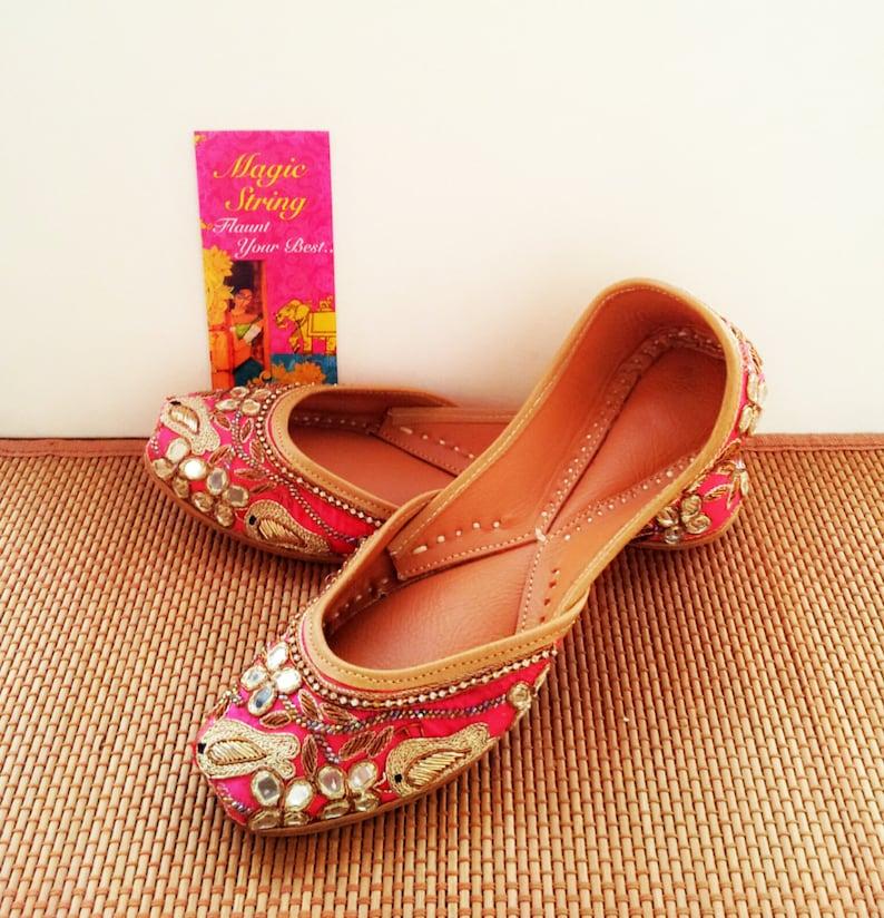 179f5911a679 Pink Flats Gold Flats Wedding Flats Fuchsia Bridal Flats Women