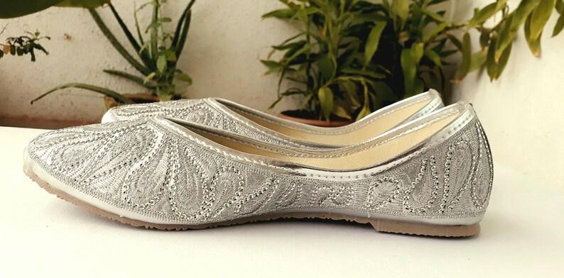 ff74a0928642 Silver Flats Wedding Flats Women Ballet Flats Women