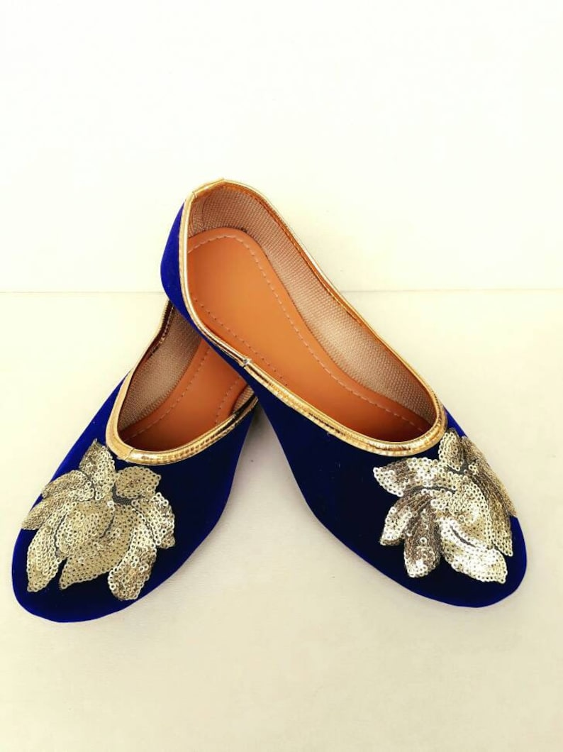 167fa051c367 Royal Blue shoes Velvet Shoes Gold Embroidered Shoes Navy Blue