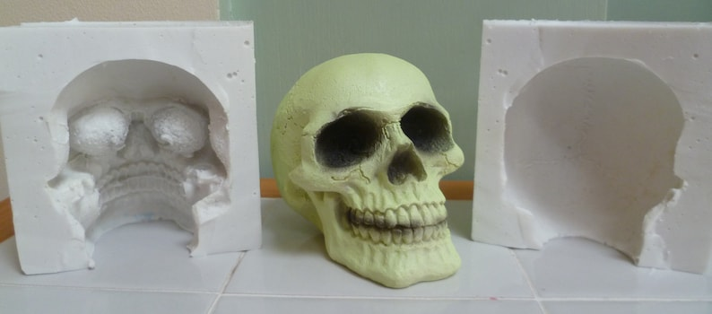 soap etc fondant Skull 3d Food Safe Silicone Mould for cake toppers chocolate resin