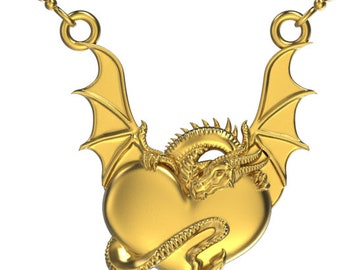 Pendant size Dragon Heart Silicone Mould for resin and food safe for cake toppers, resin, fondant, chocolate etc