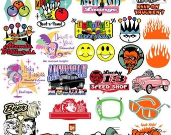 Retro Clipart Clip Art 60s and 70s Clipart Clip Art | Etsy