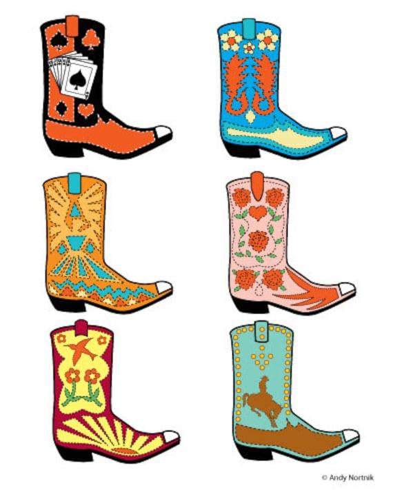 Western Stiefel Clipart Western Stiefel Clip Art kommerziellen | Etsy
