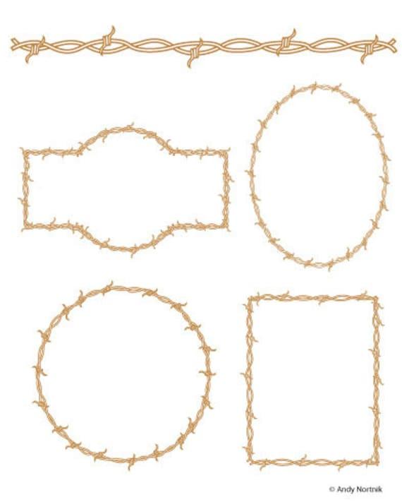 Stacheldraht-ClipArt Stachelband Draht Clipart-kommerziellen | Etsy