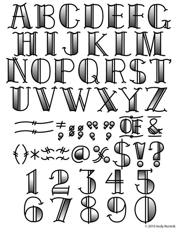 tattoo clip art clipart fonts vector lettering clip art set etsy rh etsy com clipart fonts creative clip art fonts with designs