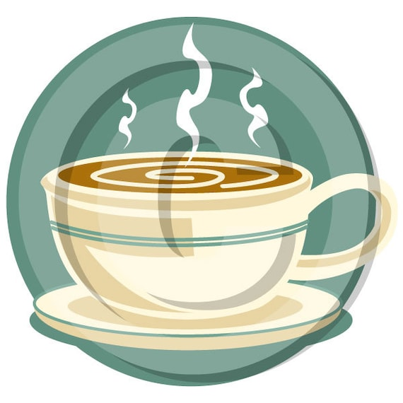Coffee Cup Clipart Clip Art Personal Or Commercial Use Etsy