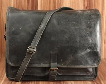 0a574a5721ec8 LECONI Aktentasche Din A4 Ordner Frauen Männer Beruf Notebook vintage große  Businesstasche Collegetasche Damen Herren Leder grau LE3014-wax