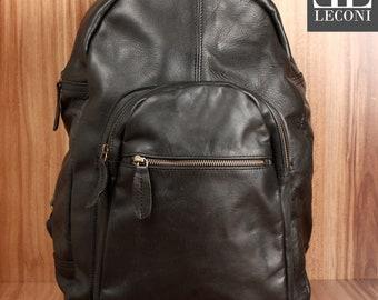 4408be4a6829c Léconi plecak mężczyźni LE1017 skórzany plecak wypoczynek skóra
