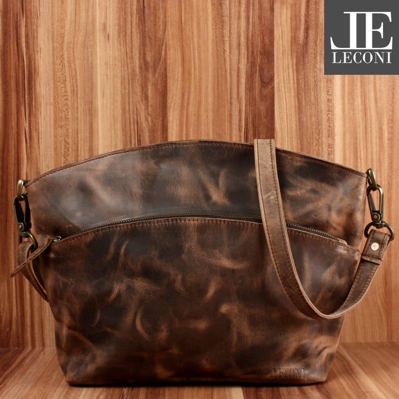 b2a867c2f43db Léconi ramię torba kobiet brązowy nowoczesny torba LE3050a
