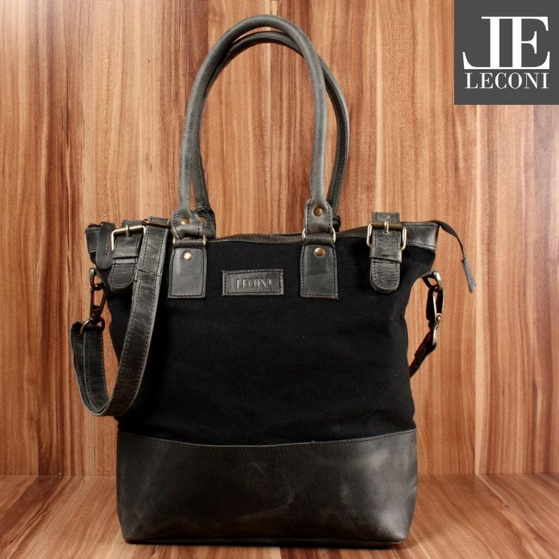 8b62441c406ce LECONI Schultertasche Handtasche kleiner Shopper grau Frauen