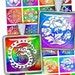 """Traci A Sasser reviewed Rainbow Oriental Ornaments Square printable images 1x1"""" 1.5x1.5 """" for Scrapbooking Pendants Digital Collage Sheet  - Instant Download"""