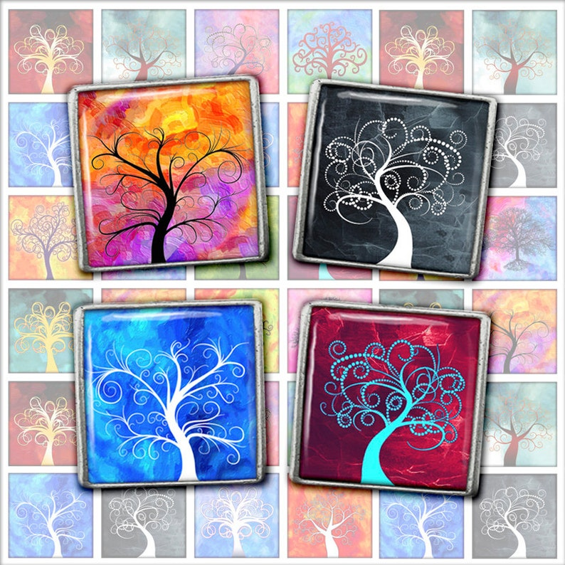 Tree of Life  Square Images 1 inch 1.5 inch Printables for image 0