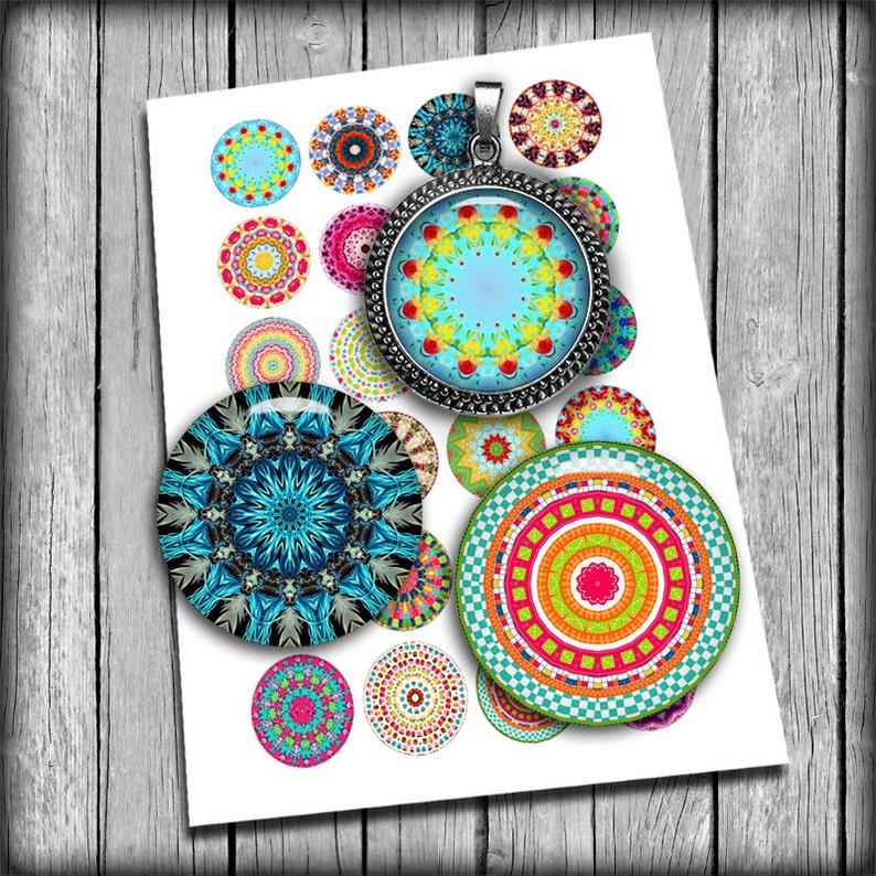 Kaleidoscope Designs  Digital Collage Sheet 1 25mm image 0