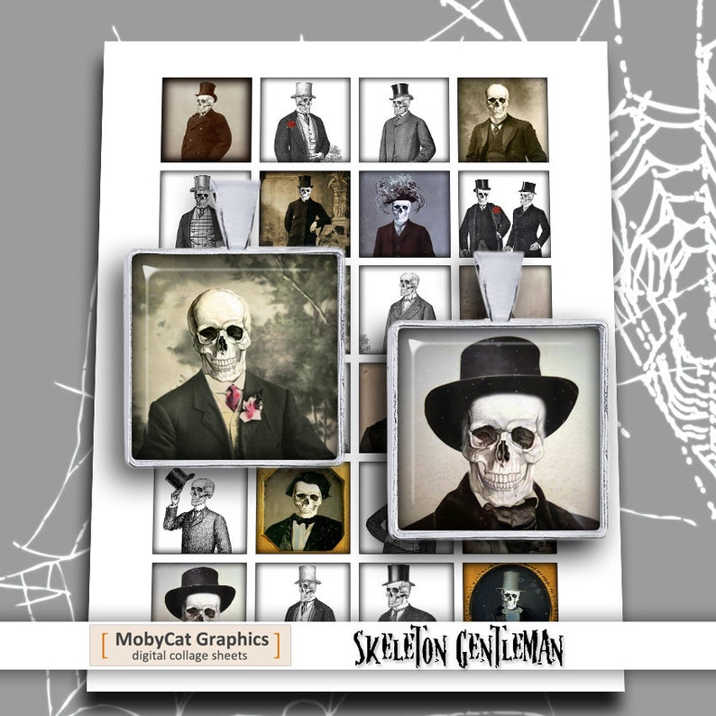 Skeleton Gentleman Square Images 1x1 and 1.5x1.5 image 0