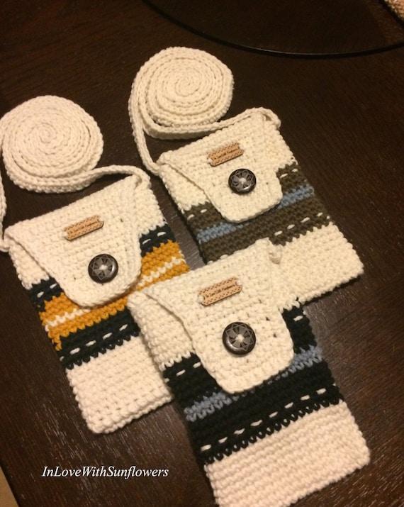 Crochet Geldbörse Häkeln Handytasche Kleine Geldbörse Etsy