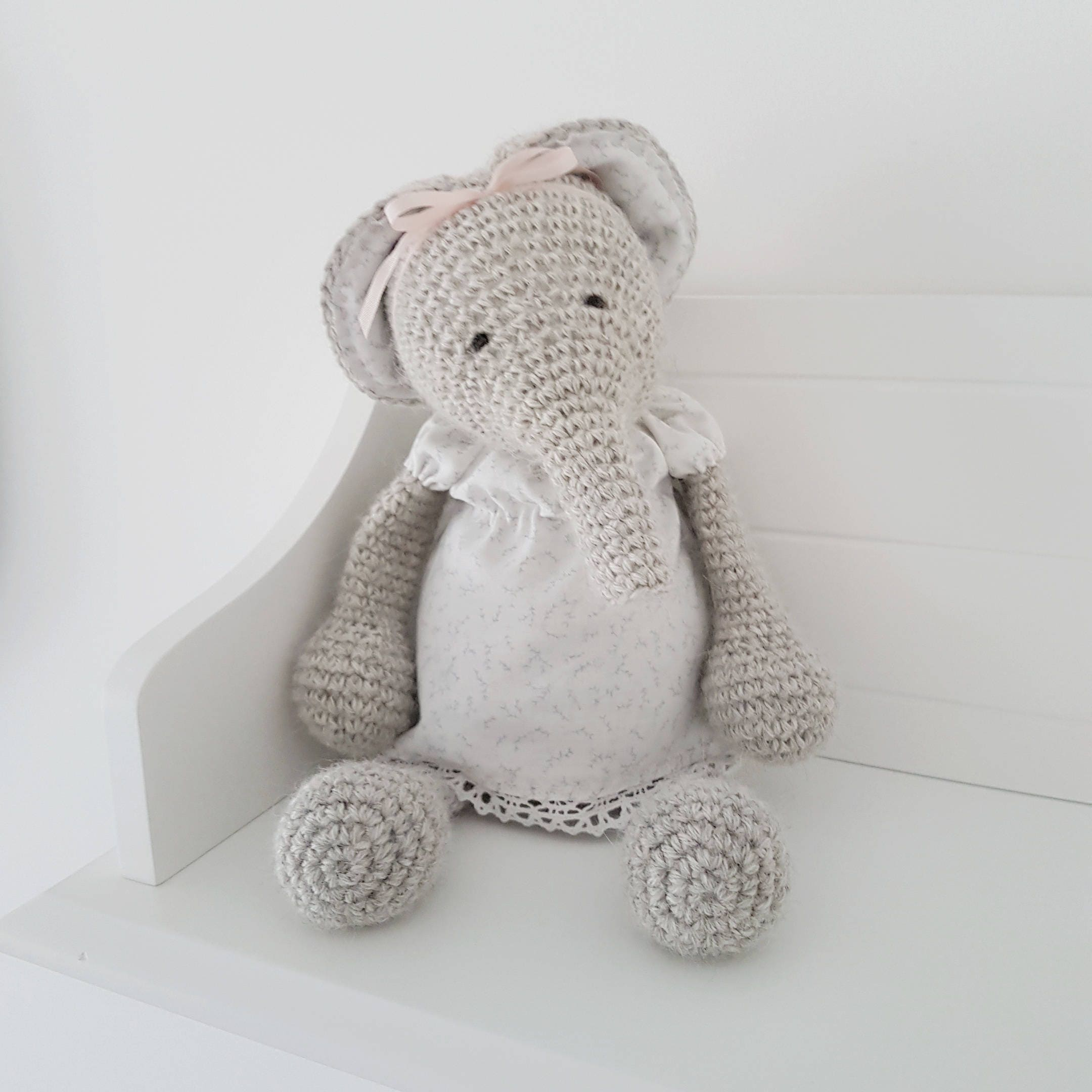 Ellie The Elephant Crochet Toy Knitted Toy Soft Toy Toy Etsy