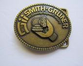 Retro Smith Gruner Belt Buckle Vintage Accessory