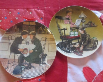 Knowles Plate Pair Valentine's Day and Father's Day Plates Fine China