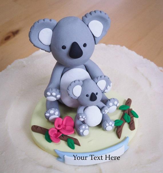 Maman Et Bébé Koala Ours De Gâteau Personnalisé Souvenir Baby Shower