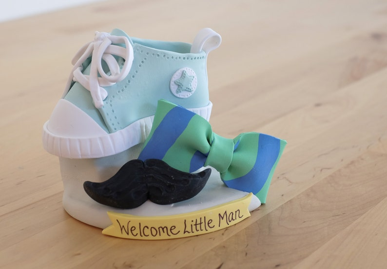 c092f96e1792 Little Man Mustache and Bowtie Keepsake Cake Topper Baby