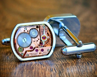 Omega Watch Movement Cufflinks