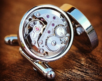 Tissot Watch Movement Cufflinks