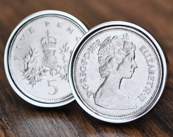 FIVE PENCE COINS 1968-1989.IDEAL BIRTHDAY SMALL GIFTS,