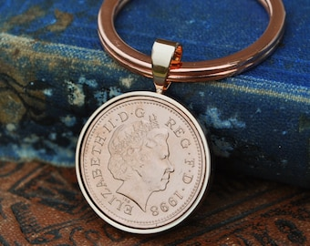 1998 Copper 21st Birthday Keyring Key To The Door Penny Birth Year Coin Mens Son Anniversary Present Lucky