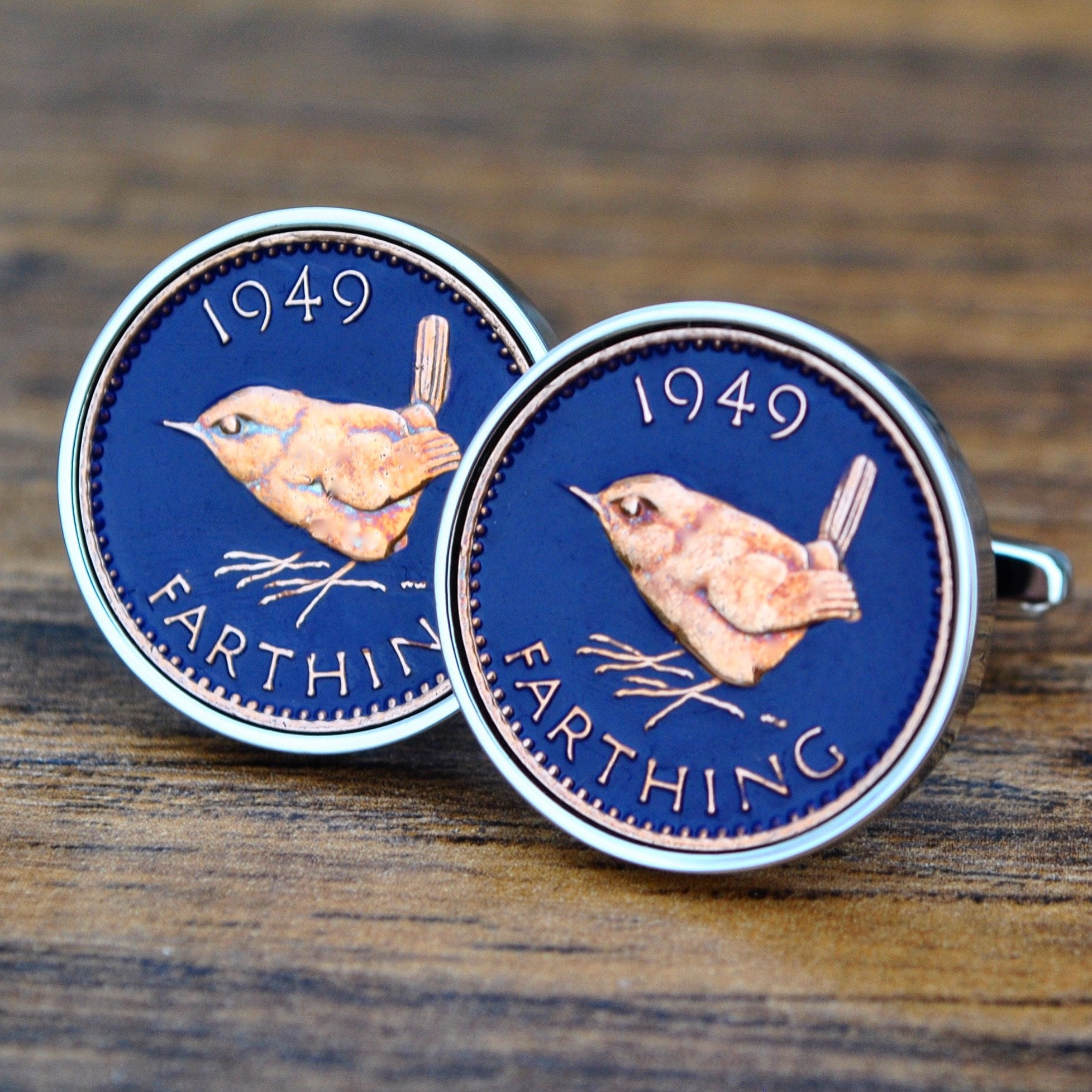 70th Birthday Gift Him 1949 Cufflinks Farthing Born In Coin CufflinksMens Anniversary Dad