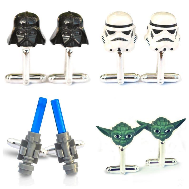 GENUINE LEGO STORMTROOPER CUFFLINKS Cufflink Gift For Star Wars Fans Jedi