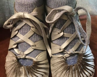 Irish Bog Turnshoe Kit for men and women (pattern, soles and instructions only) You sew the shoes with your leather
