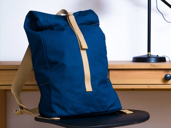 b362cd5220 navy blue canvas backpack school backpack laptop backpack