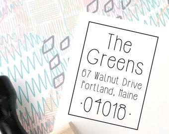 Return Address Stamp, Custom Stamp, Personalized Address Stamp, Self-Inking Address Stamp, Wedding Invitation Stamp, Save the Date, No 159