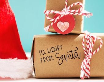 Santa Stamp, To Your Child From Santa Stamp, Gift Tag Stamp, Santa Signature Gift Stamp, Custom Kid Stamp, Christmas Stamp, To From Stamp