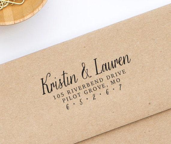 Custom Address Stamp, Return Address Stamp, Wedding Stamp, Self Inking Address Stamp, Personalized Address Stamp, Stamp Style No. 94
